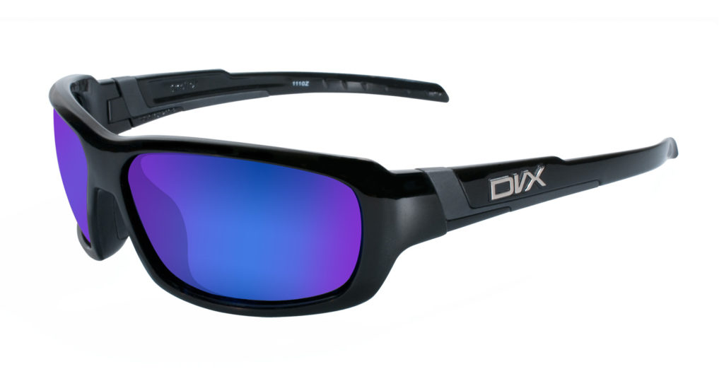 efbd5aa486d Blue Mirror Lenses   Gloss Black Frame